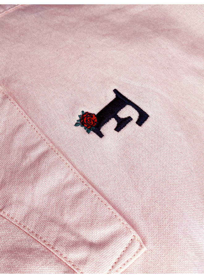 Rose Embroidered Oxford