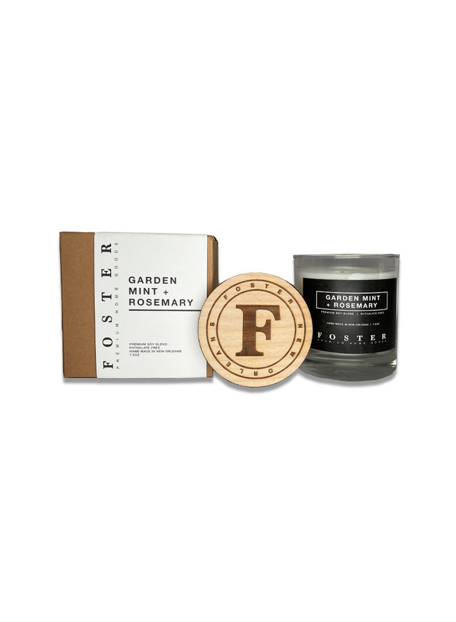 Premium Soy Candle Garden Mint + Rosemary