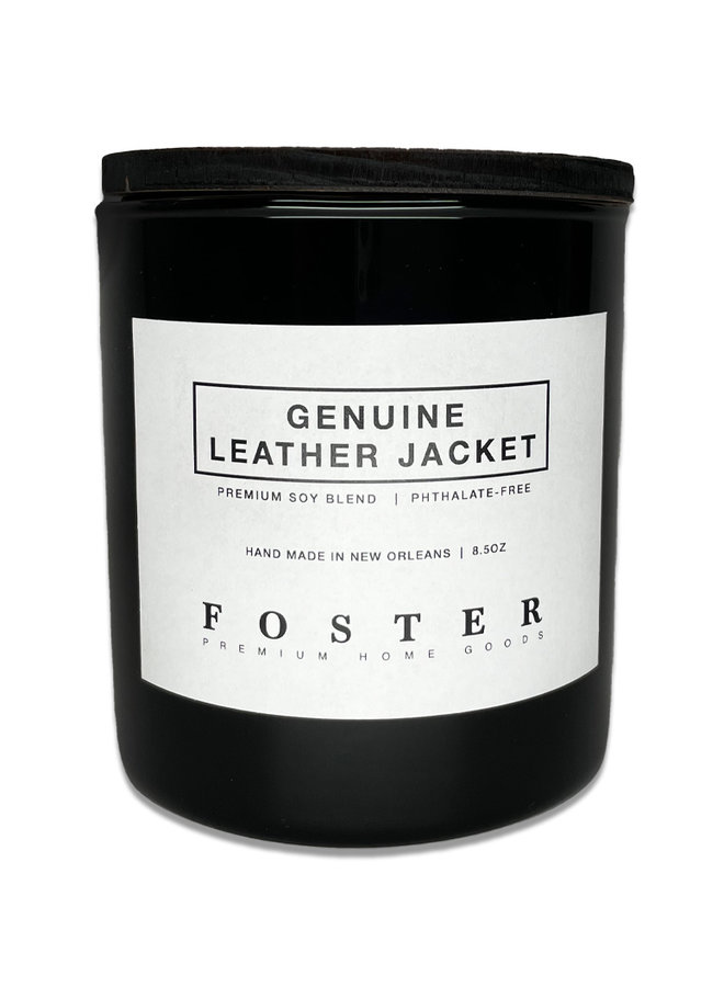 Premium Soy Candle Genuine Leather Jacket