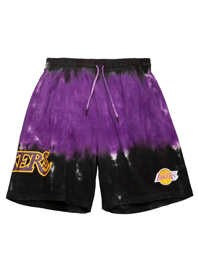 Tie-Dye Terry Shorts Los Angeles Lakers