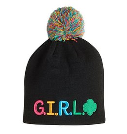 GIRL SCOUTS OF THE USA G.I.R.L. Pom-Pom Beanie Cap