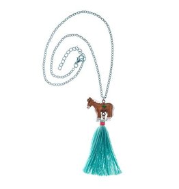 GIRL SCOUTS OF THE USA Pony With Tassel Charm Necklace