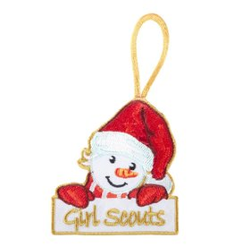GIRL SCOUTS OF THE USA Snow Girl Embroidered Christmas Ornament