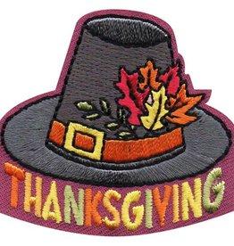 Advantage Emblem & Screen Prnt Thanksgiving Pilgrim Capotain Hat Fun Patch