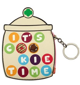 GIRL SCOUTS OF THE USA It's Cookie Time Jar Coin Purse Key Ring