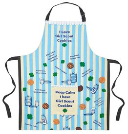 GIRL SCOUTS OF THE USA Blue Striped Girl Scout Cookie Apron