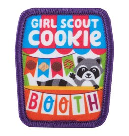 GIRL SCOUTS OF THE USA Girl Scout Cookie Booth w/ Raccoon Sew-On Patch