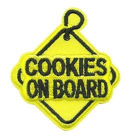 Advantage Emblem & Screen Prnt Cookies on Board Sign Fun Patch