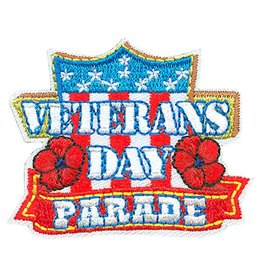 Advantage Emblem & Screen Prnt Veterans Day Parade w/ Shield Fun Patch
