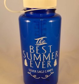 Outfit Your Logo Silver Sage Camps Nalgene Water Bottle Navy Blue