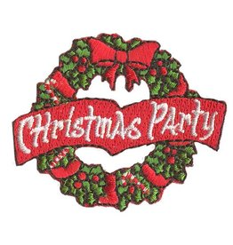 Advantage Emblem & Screen Prnt Christmas Party Wreath Fun Patch