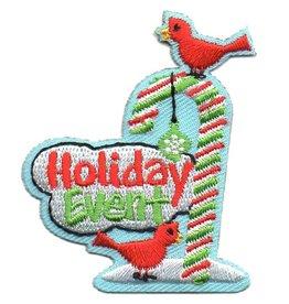 Advantage Emblem & Screen Prnt Holiday Event Candy Cane & Cardinals Fun Patch