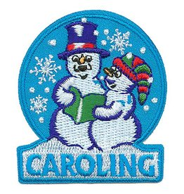 Advantage Emblem & Screen Prnt Snowmen Christmas Caroling Fun Patch