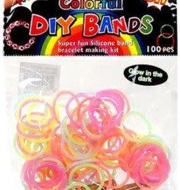 Alexon 100 pc. Glow in the Dark Loom Bands Bracelet Kit DIY 12DOC