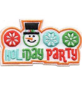 Advantage Emblem & Screen Prnt Holiday Party w/ Snowman Fun Patch