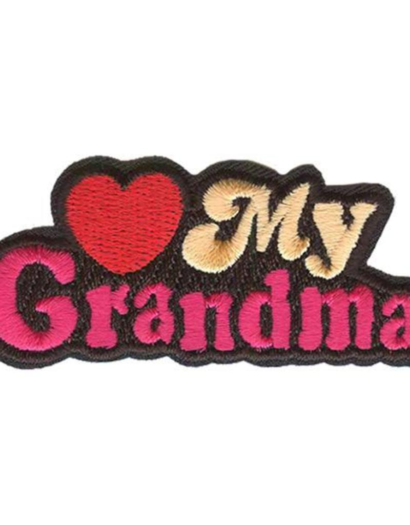 Advantage Emblem & Screen Prnt I Love My Grandma Fun Patch
