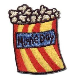 Advantage Emblem & Screen Prnt Movie Day Bag of Popcorn Fun Patch