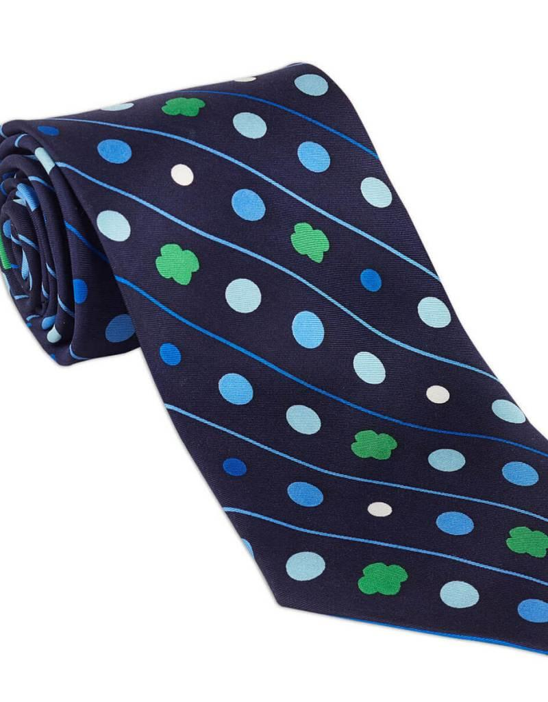 GIRL SCOUTS OF THE USA Men's Silk Polka Dot and Trefoil Pattern Tie