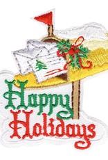 Happy Holidays Mailbox Fun Patch