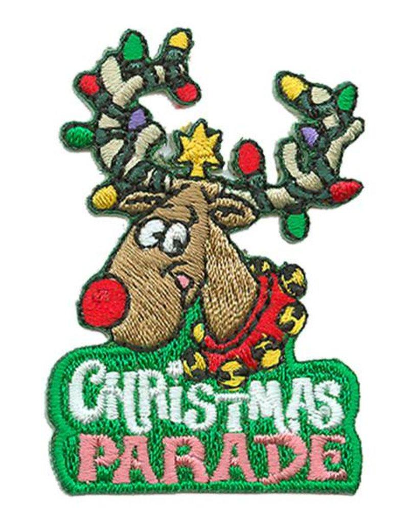 Advantage Emblem & Screen Prnt Christmas Parade w/ Reindeer Fun Patch