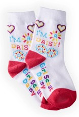 GIRL SCOUTS OF THE USA Daisy Icons Crew Sock Small
