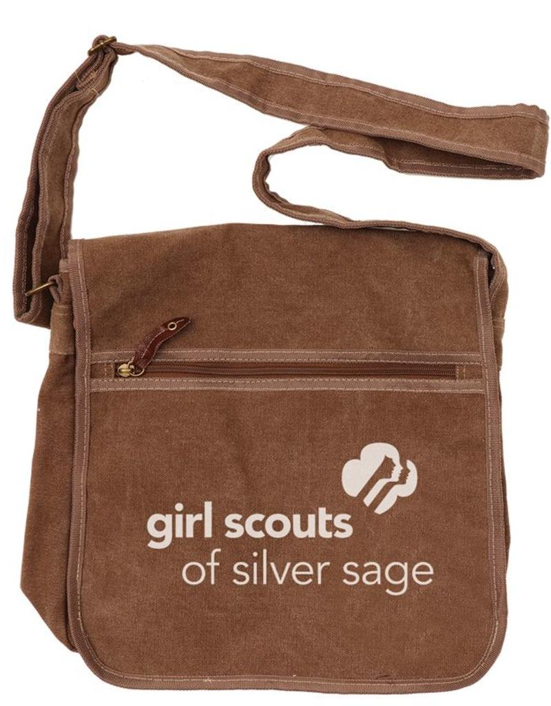 48b48d15d639 Outfit Your Logo Silver Sage Canvas Messenger Bag Khaki - Girl ...