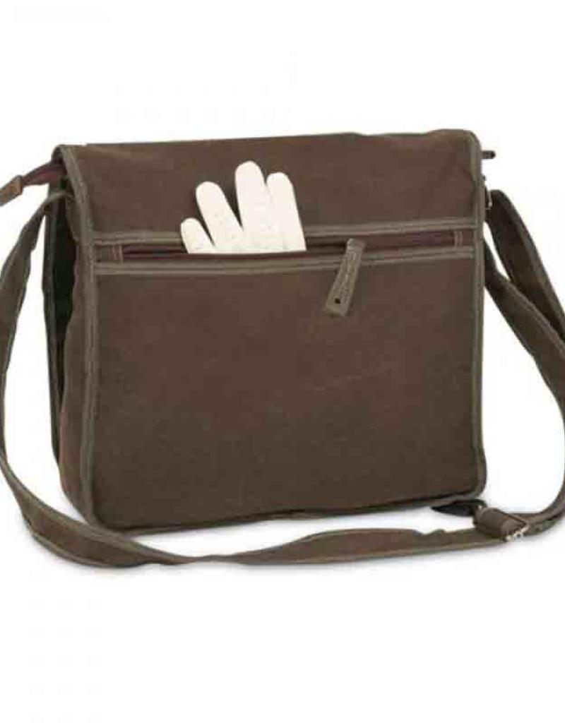 Outfit Your Logo Silver Sage Canvas Messenger Bag Khaki