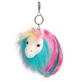 Douglas Co Inc Rainbow Unicorn Pom Clip Plush