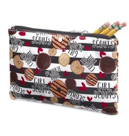 GIRL SCOUTS OF THE USA Black & White Striped Zipper Cookie Pouch