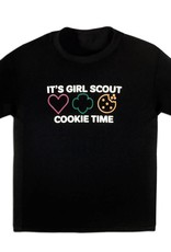 GIRL SCOUTS OF THE USA Cookie Time Black T-Shirt Girls