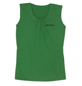 GIRL SCOUTS OF THE USA Sleeveless Green Shell Top