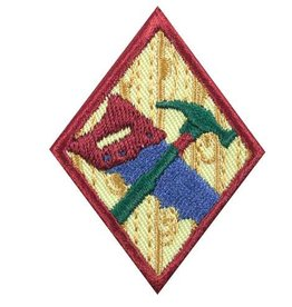 GIRL SCOUTS OF THE USA Cadette Woodworker Badge