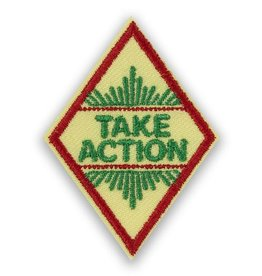 GIRL SCOUTS OF THE USA Cadette Take Action Award Badge
