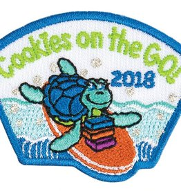 LITTLE BROWNIE BAKER 2018 Cookies On the Go Turtle Patch 12DOC