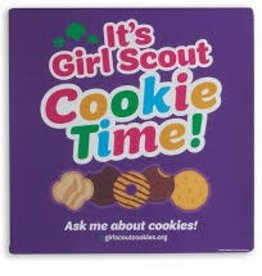 GIRL SCOUTS OF THE USA It's Girl Scout Cookie Time Car Magnet Purple
