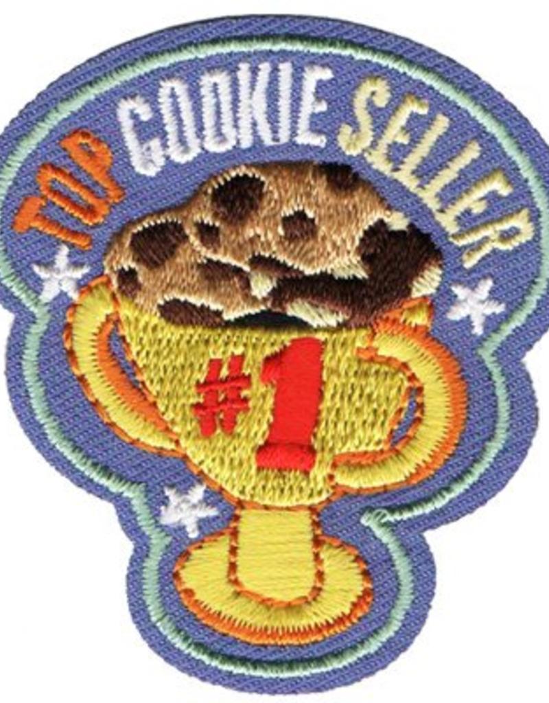 Advantage Emblem & Screen Prnt Top Cookie Seller Trophy Fun Patch