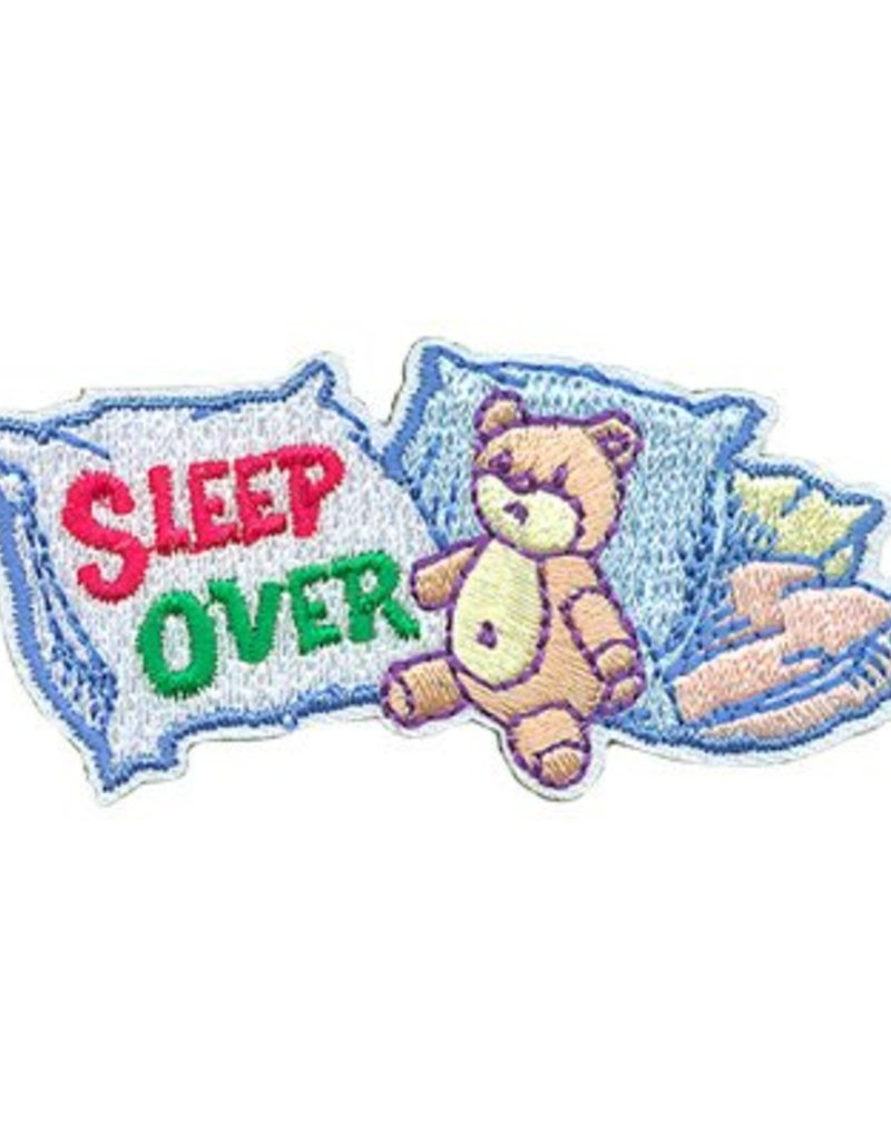 Advantage Emblem & Screen Prnt Sleep Over Teddy Bed Fun Patch