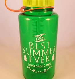 Outfit Your Logo Silver Sage Camps Nalgene Water Bottle Melon Green