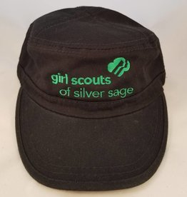 Outfit Your Logo Silver Sage Cadet Cap Black