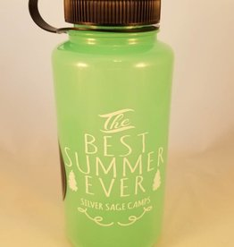 Outfit Your Logo Silver Sage Camps Nalgene Water Bottle Glow in the Dark