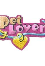 Advantage Emblem & Screen Prnt Pet Lover Collar Fun Patch