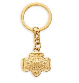 GIRL SCOUTS OF THE USA Traditional Trefoil Key Fob Keyring