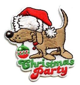 Advantage Emblem & Screen Prnt Christmas Party Puppy Fun Patch