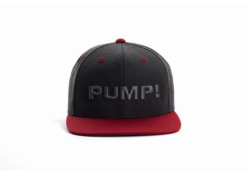 PUMP! Charcoal and Red Snapback