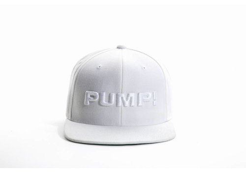 PUMP! All White Snapback
