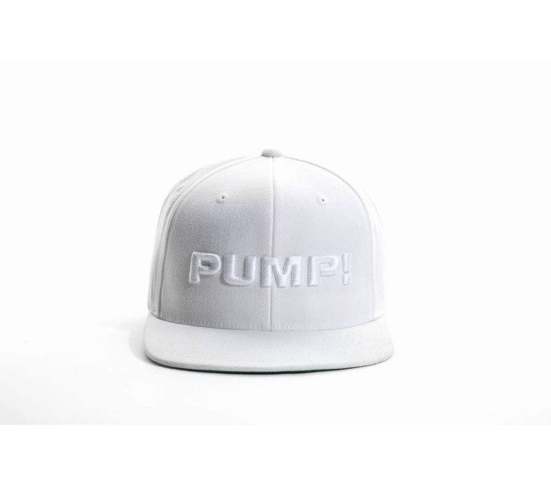 All White Snapback - PUMP! Underwear d2352896085
