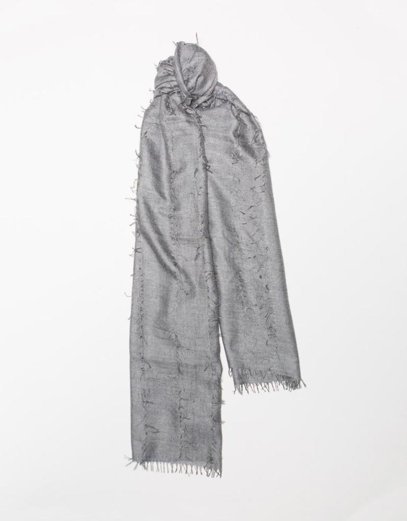 Cashmere Silk Scarf, Gray
