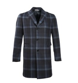 Plaid Navy Coat