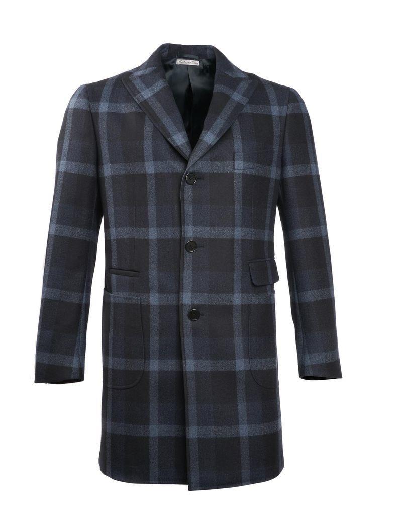 Plaid Navy Coat