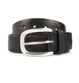 Blade Cross Cut Leather Belt